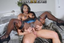 The two try to sneak away and she gives small breasts to him but that always interrupts the owner. When they finally find a space to fuck, it unleashes a madness with the busty ebony skin that loves the cock of blond Luke. He bust her black pussy and the white cumshot contrasts with the black skin of her.